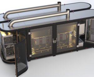 Rendu réaliste modélisation 3D d'une machine spéciale CEM