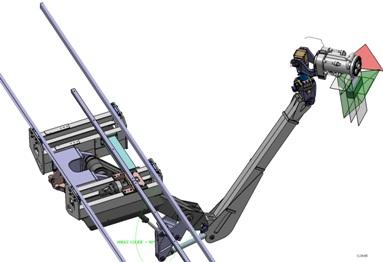 Modélisation 3D CAO d'un bras de robot marin