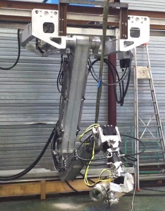 Photo d'un bras de robot marin