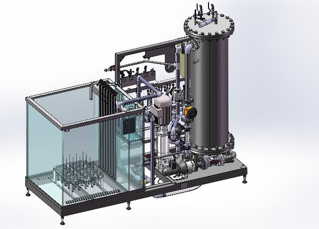 Modélisation 3D CAO d'un équipement de test banc d'essai