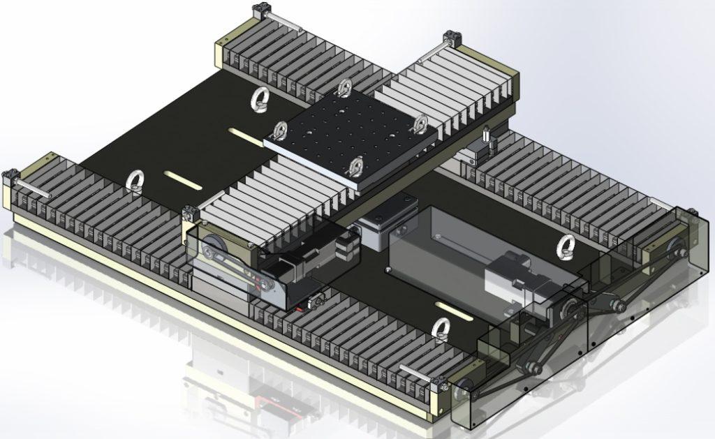 Modélisation 3D CAO d'une table de déplacement 2 axes XY