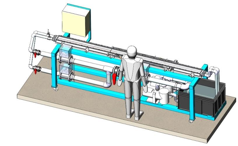 Modélisation 3D CAO d'un banc d'essai hydraulique