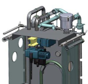 Modélisation 3D CAO d'une boite à gants avec palan
