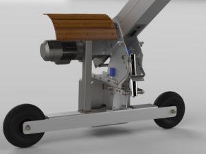 Rendu réaliste modélisation 3D d'un treuil potence de manutention spécial