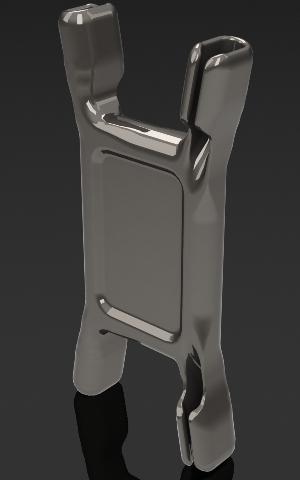 Rendu réaliste modélisation 3D d'une pièce plastique spéciale design