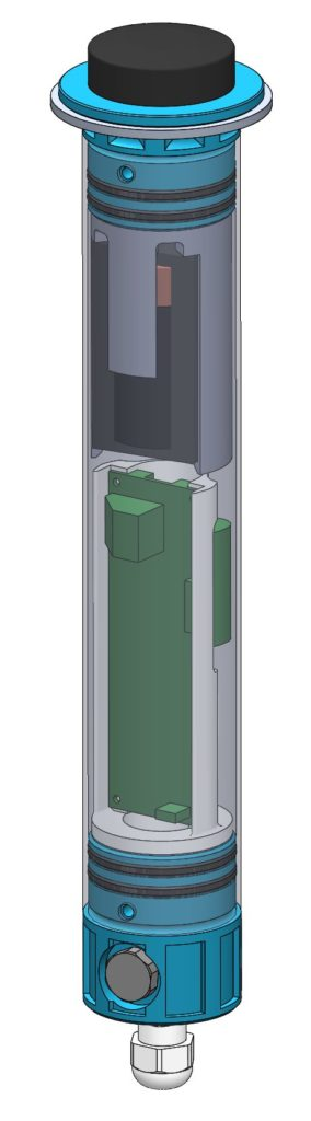 Modélisation 3D CAO d'un boitier tubulaire étanche spécial