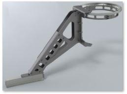 Rendu réaliste modèle 3D d'une potence de manutention spéciale