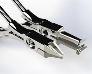 Rendu réaliste modèle 3D d'embouts de pince spéciaux pour le médical, design