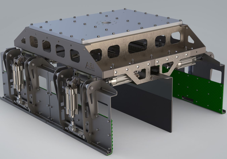 Rendu réaliste modèle 3D d'une pince de manutention pour robot
