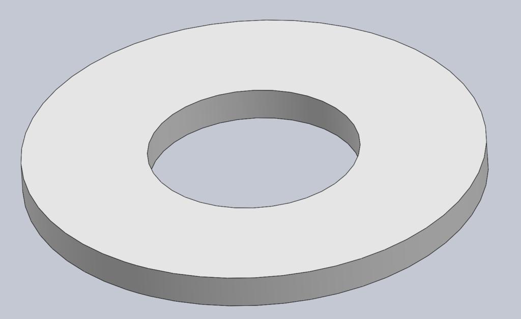 Modèle 3D CAO CAD RONDELLE PLATE ISO