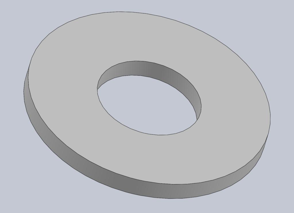 Modèle 3D CAO CAD RONDELLE PLATE NFE