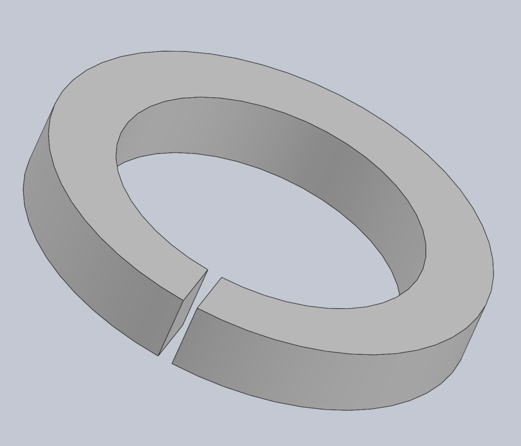 Modèle 3D CAO CAD RONDELLE FENDUE GROWER W