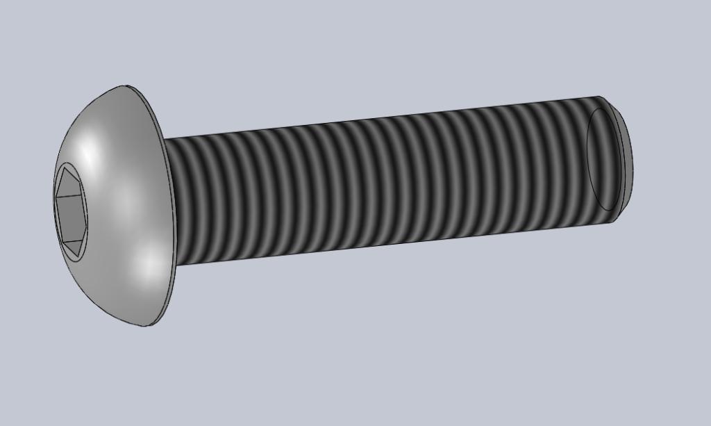 Modèle 3D CAO CAD VIS CBHC TETE BOMBEE ISO 7380-1