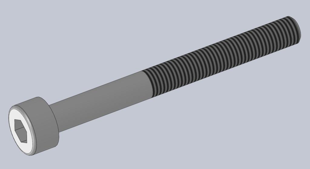 Modèle 3D CAO CAD VIS CHC ISO 4762