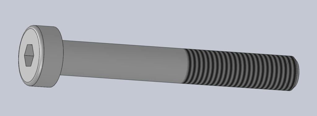 Modèle 3D CAO CAD VIS CHC TETE BASSE DIN 7984