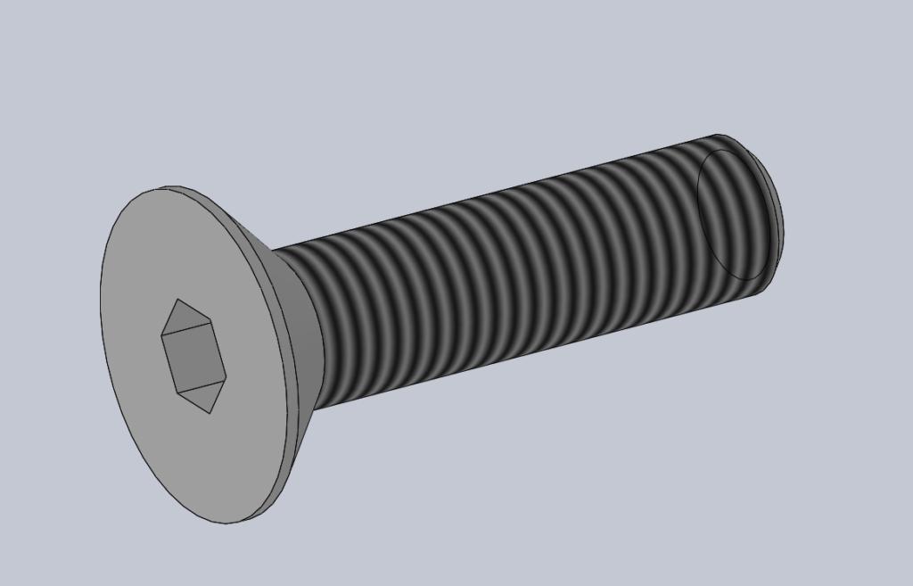 Modèle 3D CAO CAD VIS FHC ISO 10642