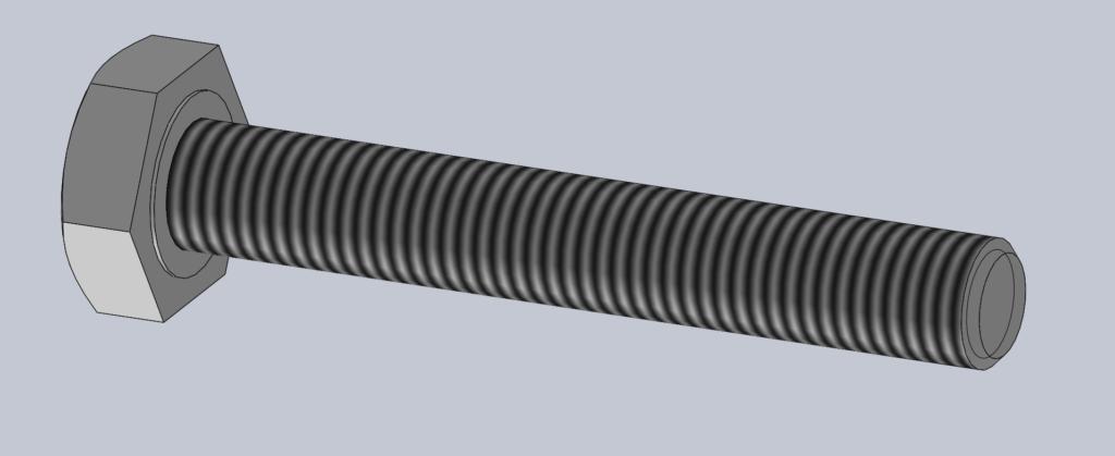Modèle 3D CAO CAD VIS H EF ISO 4017