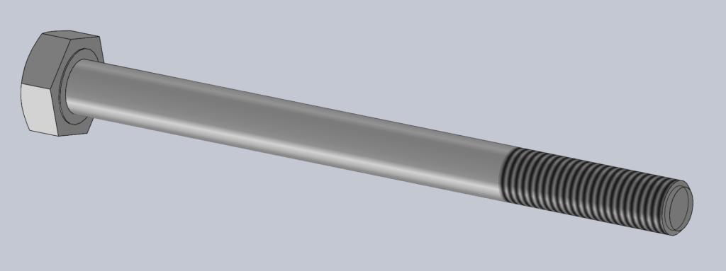 Modèle 3D CAO CAD VIS H PF ISO 4014