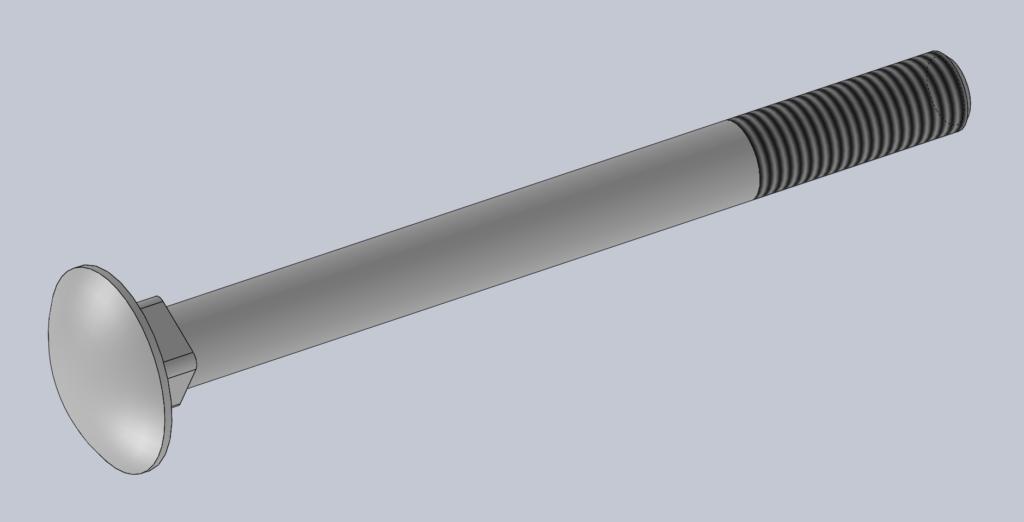 Modèle 3D CAO CAD VIS A COLLET CARRE TRCC DIN 603